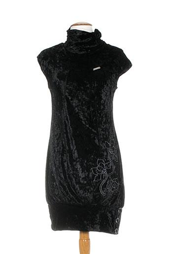 Robe mi-longue noir AMARILLOLIMON pour femme