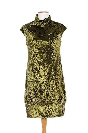 Robe mi-longue vert AMARILLOLIMON pour femme