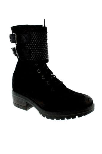 khrio bottines femme de couleur noir