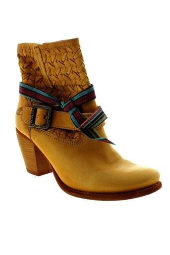 felmini boots femme de couleur jaune