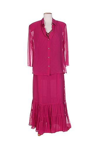 atian jupe et veste femme de couleur violet