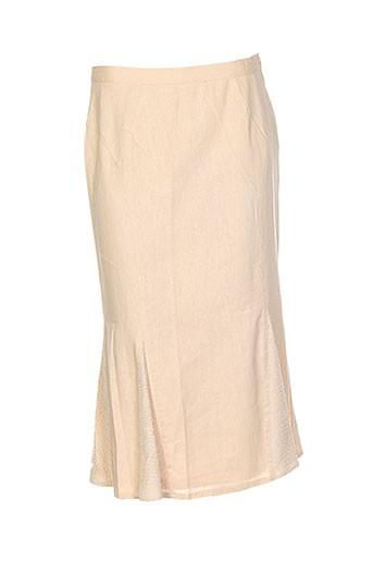 atian jupes femme de couleur beige