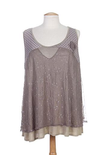 akela key t et shirts et tops femme de couleur gris