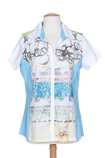 miss sidecar chemises femme de couleur bleu