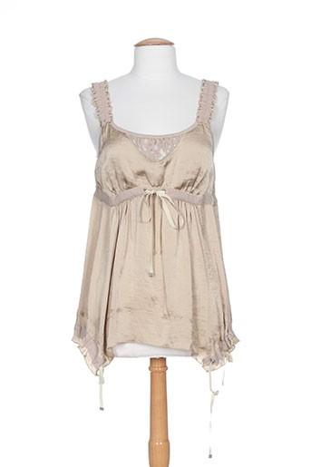 collection privee chemises femme de couleur beige
