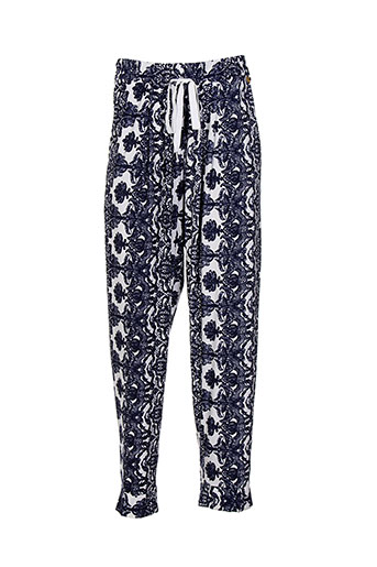 mat. pantalons femme de couleur bleu