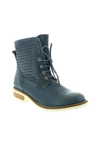 lsq chaussures femme de couleur bleu