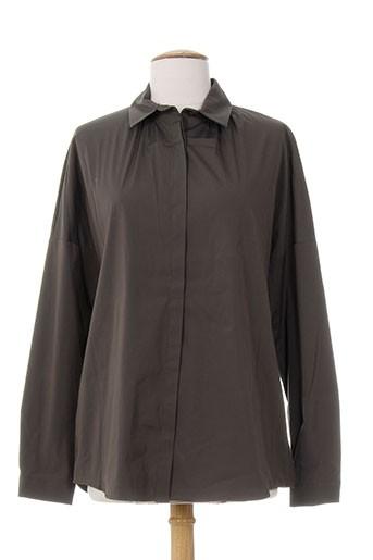 piazza sempione chemises femme de couleur marron