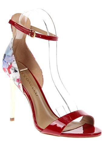 cecconello sandales et nu et pieds femme de couleur rouge