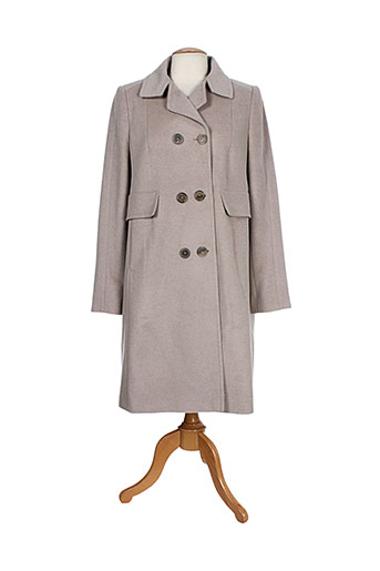luisa cerano manteaux femme de couleur beige