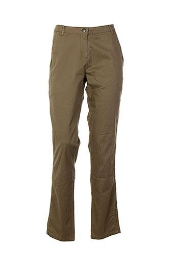 soyaconcept pantalons femme de couleur marron