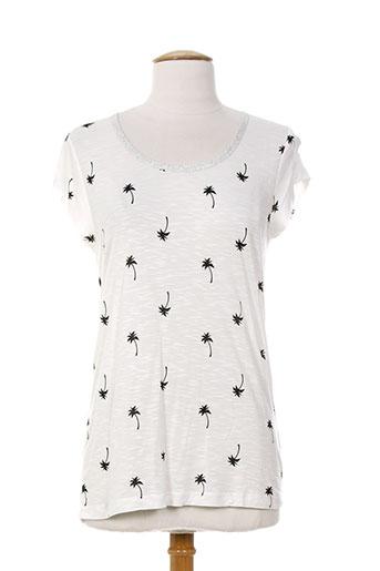 anna scott t-shirts femme de couleur blanc