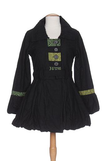bamboo et s manteaux et longs femme de couleur vert