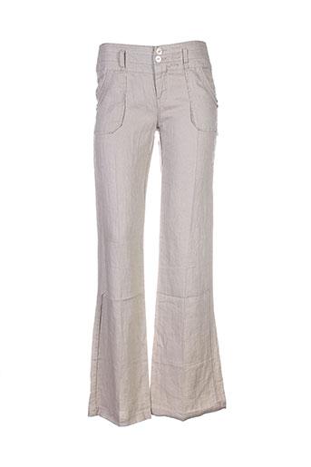 ddp pantalons femme de couleur beige