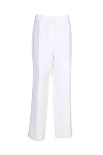 villa bleue pantalons femme de couleur beige