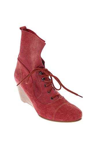 stephane et gontard bottines femme de couleur rouge