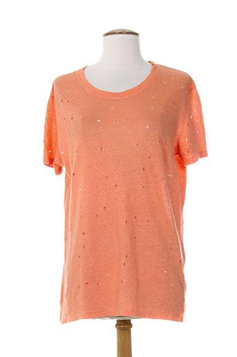 iro chemises femme de couleur orange