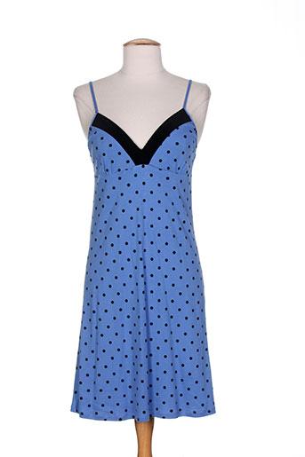 le et chat nuisettes et combinettes femme de couleur bleu