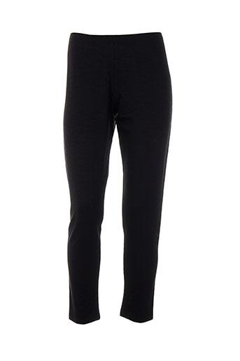 black et label leggings femme de couleur noir