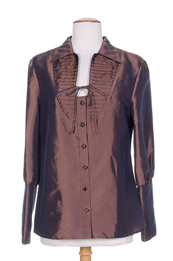 daniel amaury chemises femme de couleur marron