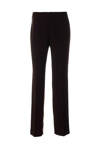 enrique vals pantalons femme de couleur marron