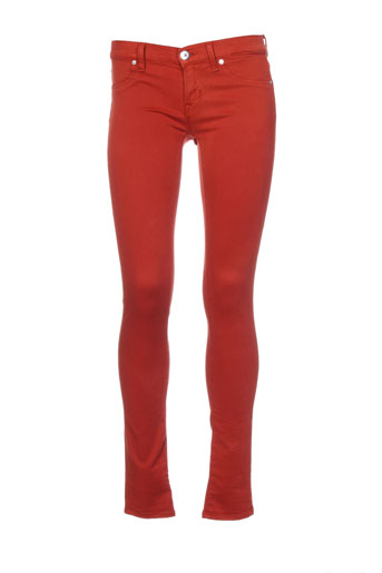 freesoul pantalons femme de couleur orange