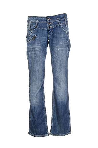 freeman et t et porter jeans et coupe et droite femme de couleur bleu
