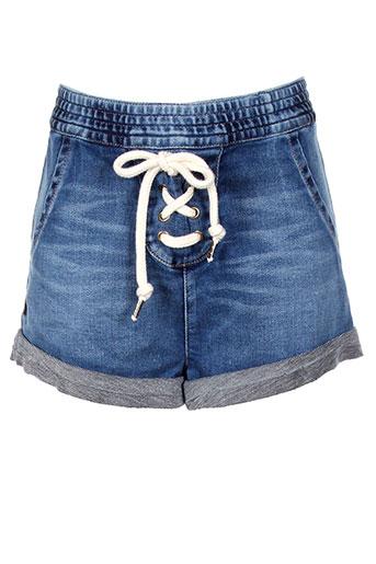 kiliwatch shorts / bermudas femme de couleur bleu