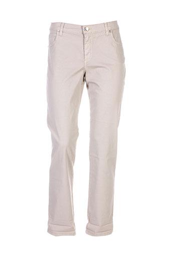 piu et piu pantalons et decontractes femme de couleur beige