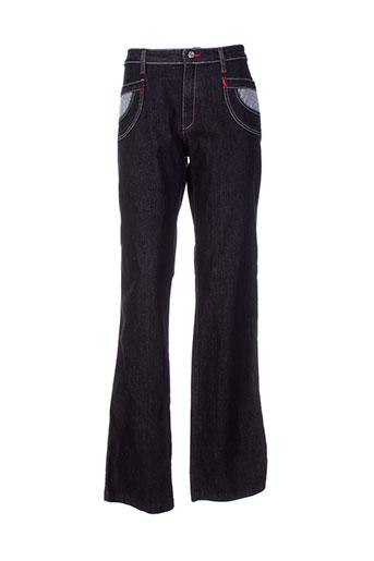 aquajeans jeans et coupe et droite femme de couleur noir