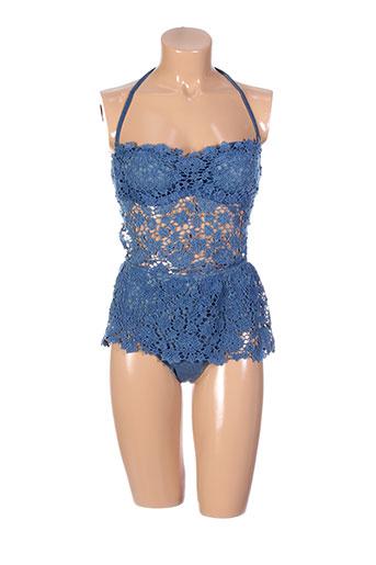 ermanno scervino maillots de bain femme de couleur bleu