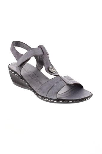 geo et reino sandales et nu et pieds femme de couleur gris