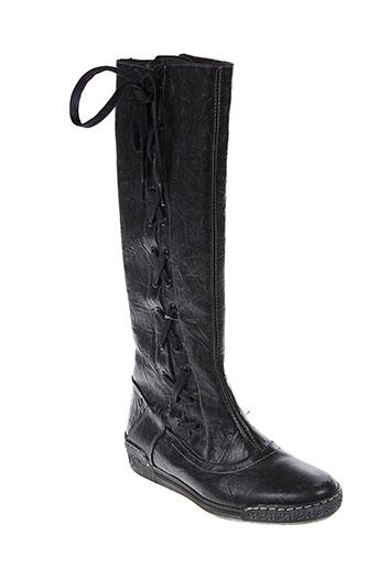 paco et valiente bottes femme de couleur noir