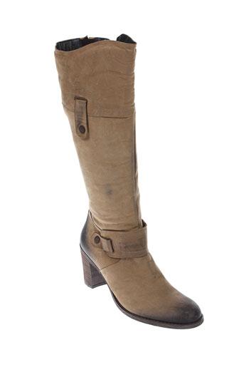 paco et valiente bottes femme de couleur beige