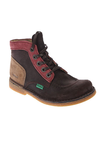 kickers boots fille de couleur marron