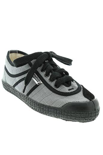 kawasaki chaussures femme de couleur gris