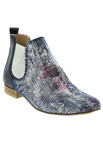 axell boots femme de couleur bleu