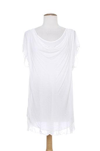 alan red t-shirts femme de couleur blanc
