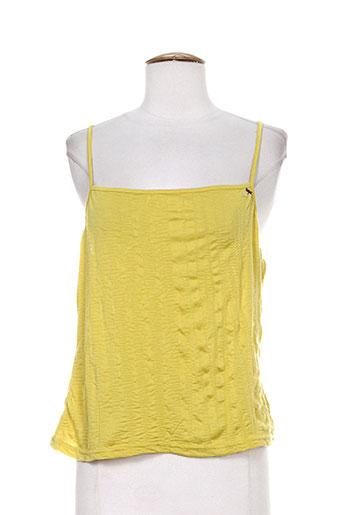 fille des sables chemises femme de couleur jaune