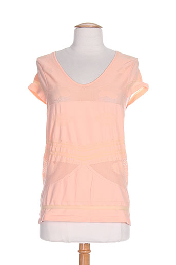 r867 chemises femme de couleur orange