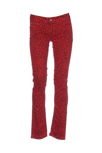cimarron pantalons et decontractes femme de couleur rouge