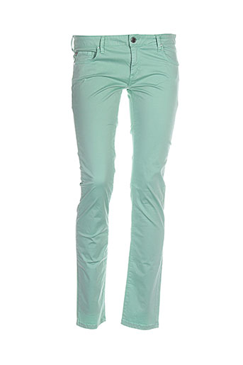 kocca pantalons femme de couleur vert