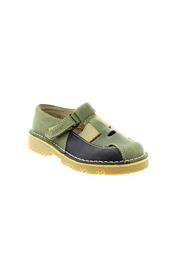 aster chaussures garçon de couleur vert