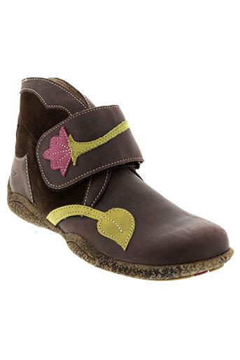tty chaussures fille de couleur marron