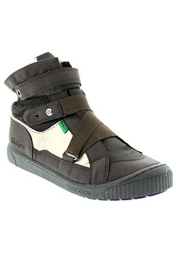 kickers boots fille de couleur marron