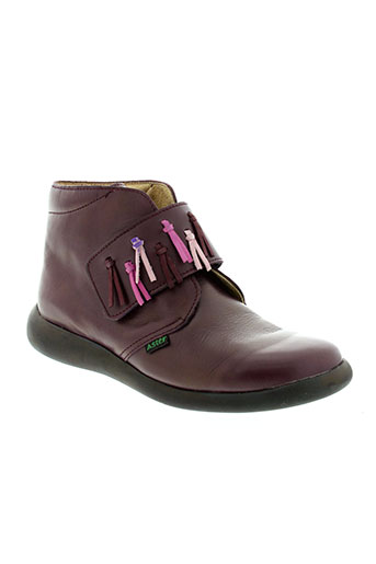 aster boots fille de couleur violet