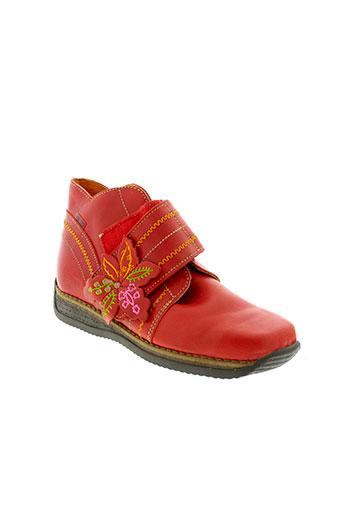 kenzo boots fille de couleur rouge