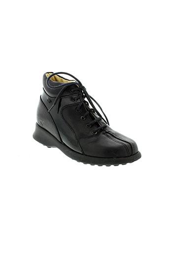 le et loup et blanc boots fille de couleur noir