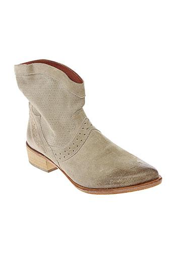 b et confiture boots femme de couleur beige