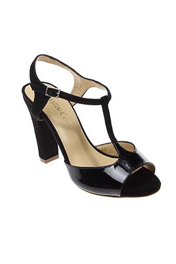 basta cosi chaussures femme de couleur noir
